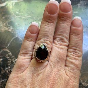Jewelry - Beautiful dark Brown Color Pear Cut Topaz 925